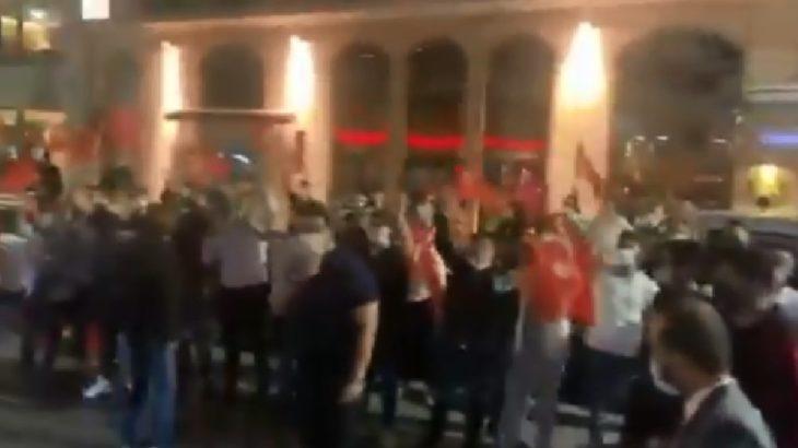 VİDEO | Soylu destekçileri Habertürk önünde toplandı