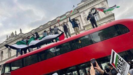 Yunanistan'daki İsrail protestosuna polis müdahale etti