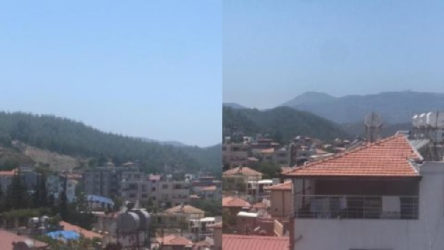 Suriye-Türkiye sınırında yangın