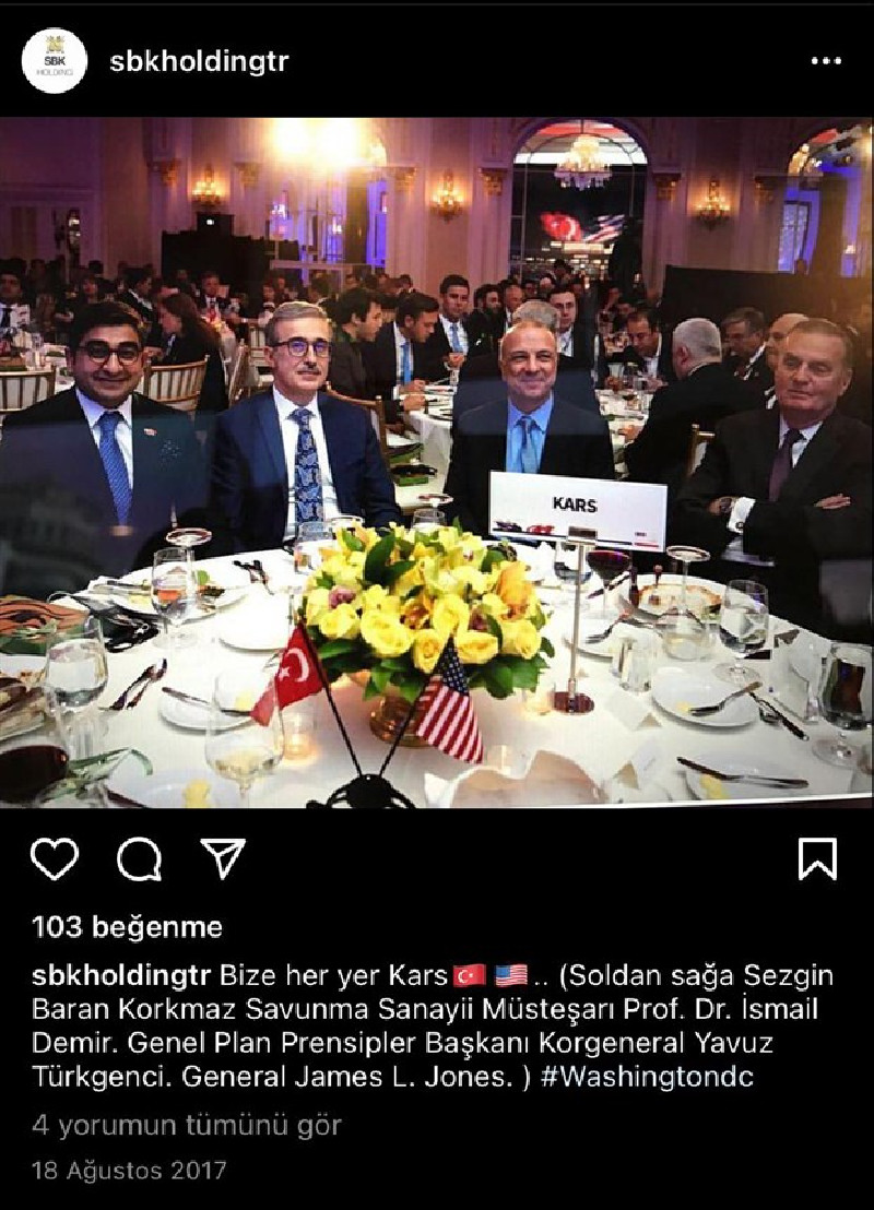 Bir SBK fotoğrafı daha: Savunma Sanayii Başkanı İsmail Demir ve ABD'li General SBK ile birlikte