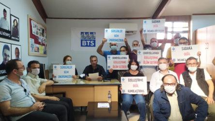 İzmir'de BTS üyelerinin 'sürgün' eylemi devam ediyor