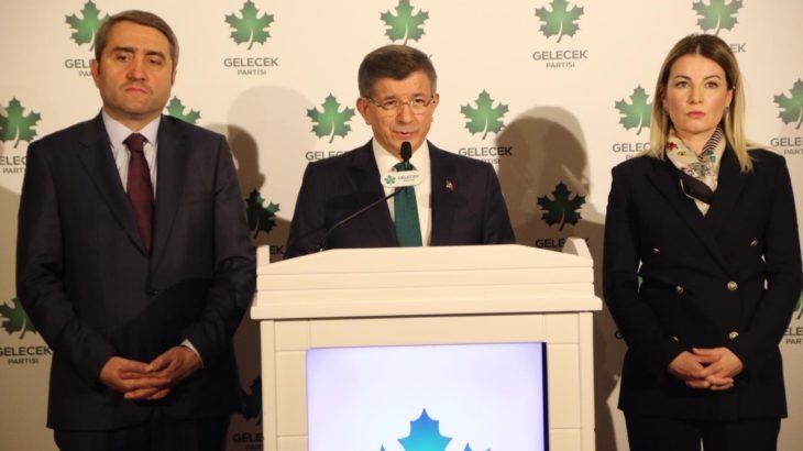 Gelecek Partisi Genel Başkan Yardımcısı istifasını açıkladı