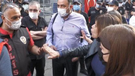 HDP'li Beştaş ve polis arasında 'çadır' gerginliği: Silahlı saldırgan içeri girip cinayet işliyor, siz çadırı koruyorsunuz