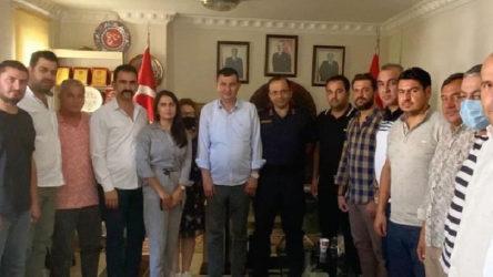 İlçe Jandarma Komutanı MHP teşkilatını ziyaret etti