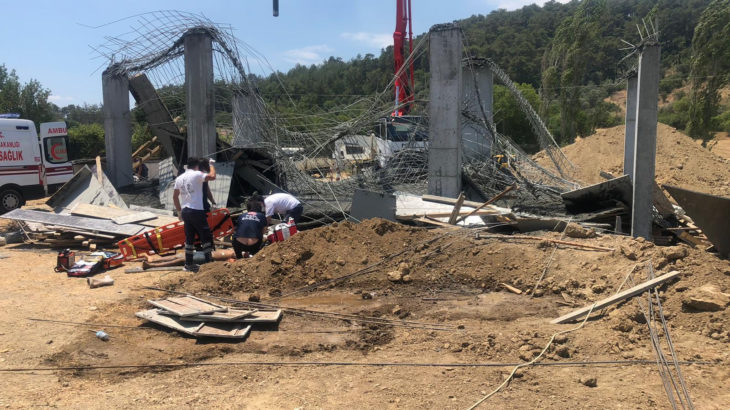 Muğla'da iş cinayeti: İnşaatta meydana gelen göçükte 1 işçi yaşamını yitirdi, 3 yaralı