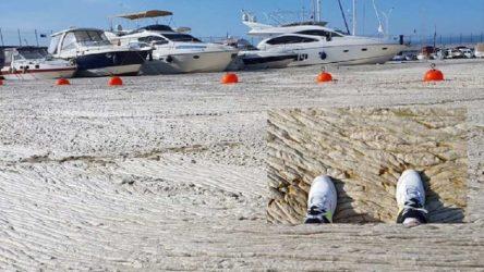 Marmara Denizi'nde korkuç görüntü: Müsilaj adeta beton gibi sert bir hal aldı