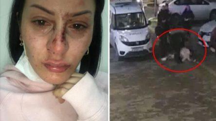 Polisler sokak ortasında bir kadını darp etti!