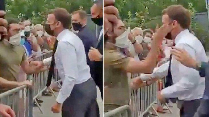 Macron'a tokat atan adam için 18 ay hapis istendi