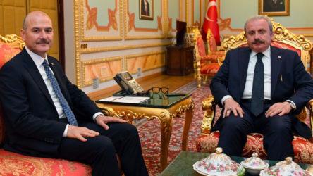 TBMM Başkanı Mustafa Şentop, Süleyman Soylu ile görüştü