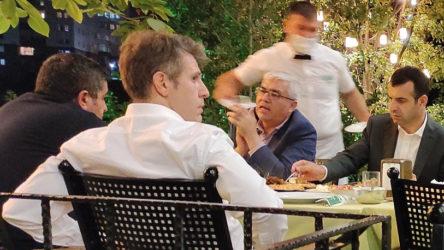 Yanlışlıkla paylaşıldı: Sezgin Baran Korkmaz ile yemek yiyen Yargıtay üyesi