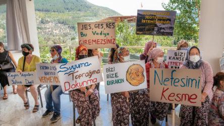 Orhanlı Köyü sakinleri JES projesine karşı bir araya geldi