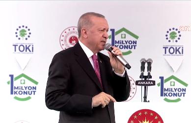 Erdoğan: Devlete ait alanları rant kaygısı gütmeksizin vatandaşlarımızın emrine veriyoruz