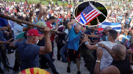 Küba'da yaşanan eylemlerin nedenini itiraf etti: Küba bombalanmalı!