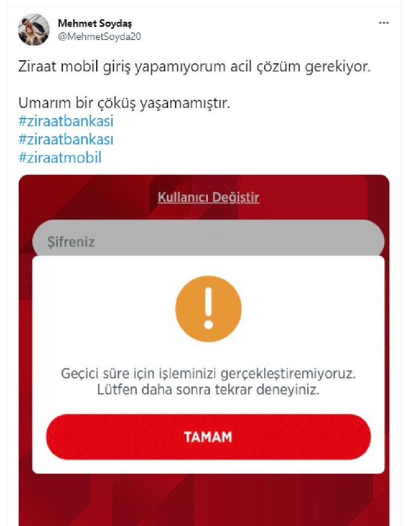 Akbank'tan sonra bu kez de Ziraat Bankası: ATM'ler ve mobil uygulamalar çalışmıyor
