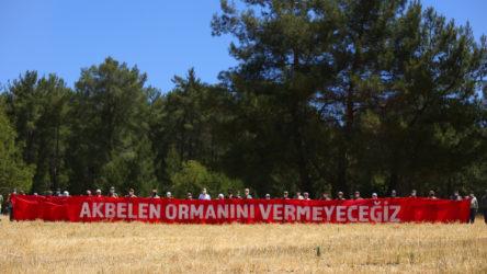 'Yangını önlemek için' diyerek işçilere İkizköy'deki Akbelen ormanlarında ağaçları kestirttiler