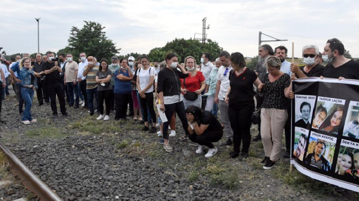 Çorlu'daki tren katliamında hayatını kaybedenler anıldı