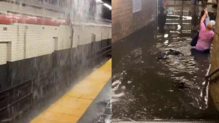 Elsa Fırtınası'nın sebep olduğu yağışlar New York'ta sele neden oldu