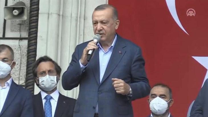 Erdoğan: Felaket imtihandır, ona sabretmek ayrı imtihan