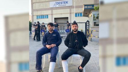Direnişte olan işçilere polis saldırısı !