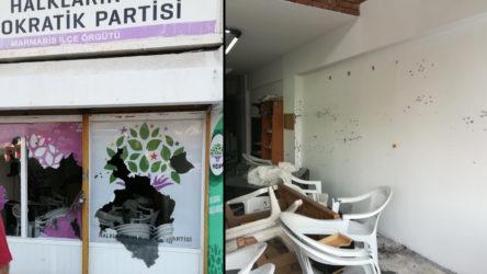 HDP Marmaris İlçe Örgütü binasına yapılan saldırı protesto edildi: Toplu katliam provaları yapılıyor