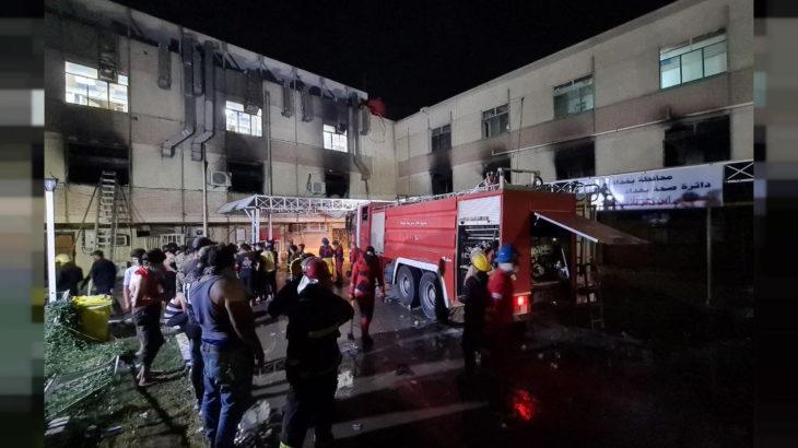 Irak'taki Covid-19 hastanesinde çıkan yangında can kaybı 92'ye yükseldi