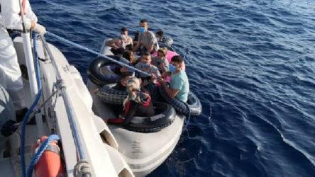Göçmenleri taşıyan bot arıza yaptı