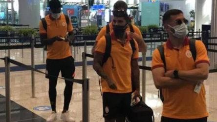 Yunanistan'a Olympiakos'la oynanacak maç için giden Galatasaray kafilesi geri döndü: İki saat havalimanında beklediler