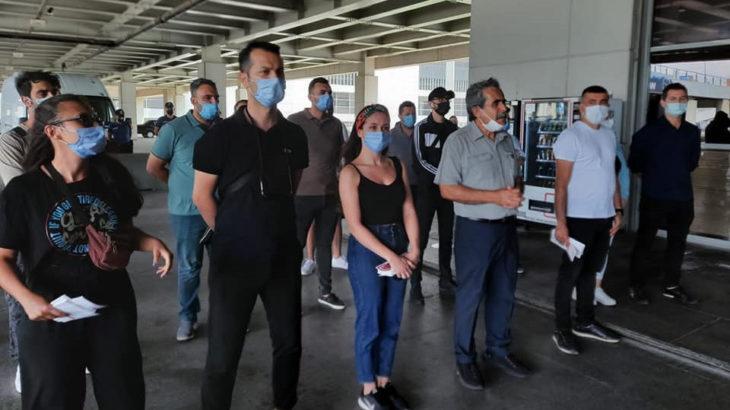 Sabiha Gökçen Havalimanı'nda eylem