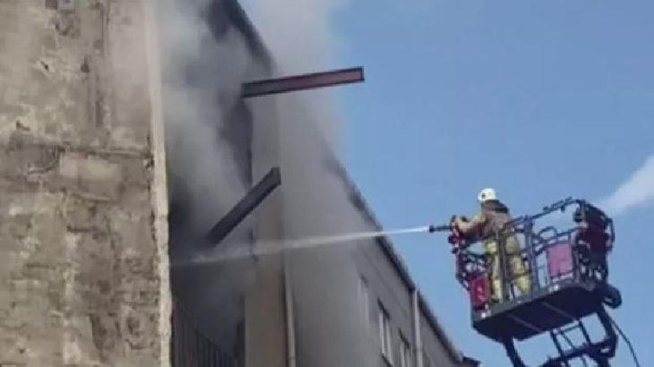 İstanbul'da atölyede yangın: İşçiler, merdiven engeli yüzünden birinci katta mahsur kaldı