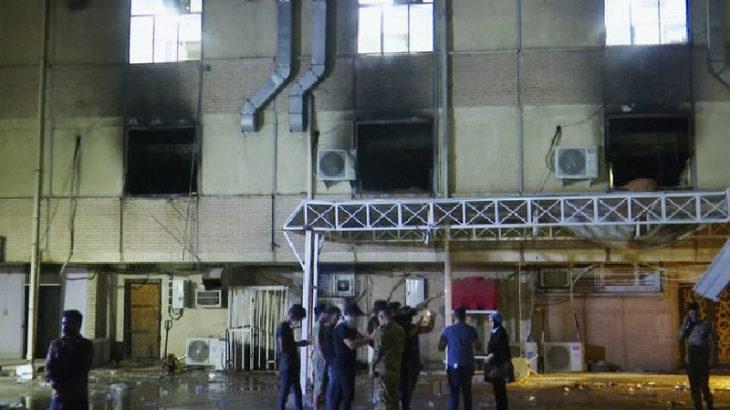 Irak'ta hastanede yangın: 20'den fazla kişi öldü
