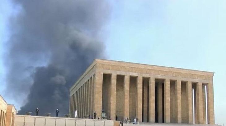 Ankara'da YHT Gar binasında yangın