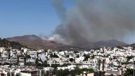 Bodrum'da yangın: Alevler yerleşim yerlerine ilerliyor
