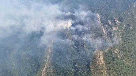 Kazdağları'nda çıkan yangın devam ediyor