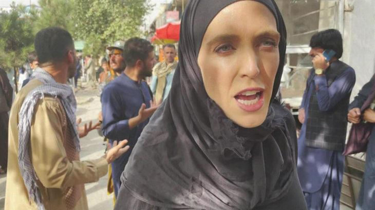 Cihatçı terör örgütü Taliban'dan CNN muhabirine saldırı: Yüzünü kapat diye bağırdılar