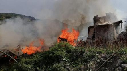 Erzurum'da korkutan yangın