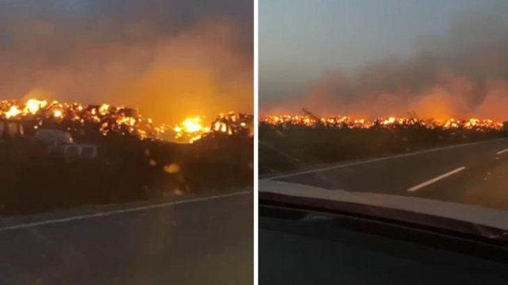 Adana'da depo yangını
