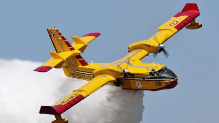 Yangın söndürme uçağı düştü!