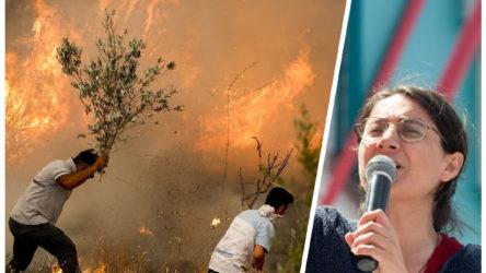 TKH Genel Başkanı Aysel Tekerek: Yangınlar bir tek AKP'nin yüzünü güldürdü
