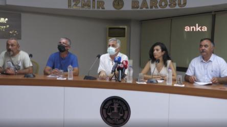 İzmir Barosu, İzmir Tabip Odası, Eğitim-Sen ve Veli-Der İzmir şubeleri ortak basın toplantısı düzenlediler