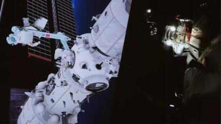 Çinli taykonotlar uzay istasyonunda ikinci yürüyüşü yaptı