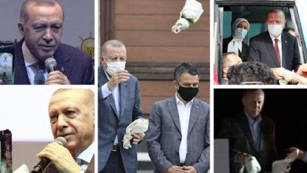 Erdoğan çayları kendi iradesiyle atmıyormuş!