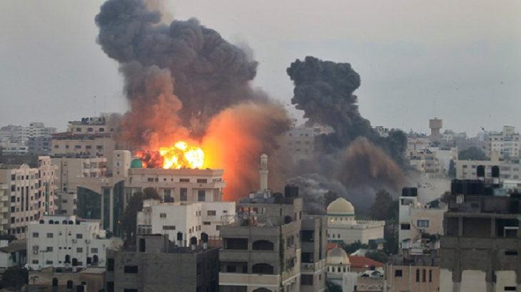 Siyonist İsrail'in saldırganlığı devam ediyor: Gazze bombalandı