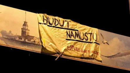 'Hudut namustur' pankartı asan 6 kişi gözaltına alındı