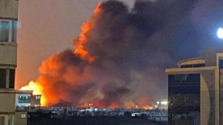 İkitelli Çevre Sanayi Sitesi'nde büyük yangın