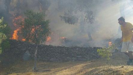 Bir yangın haberi de Isparta'dan geldi