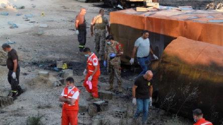 Lübnan'da akaryakıt tankeri patladı
