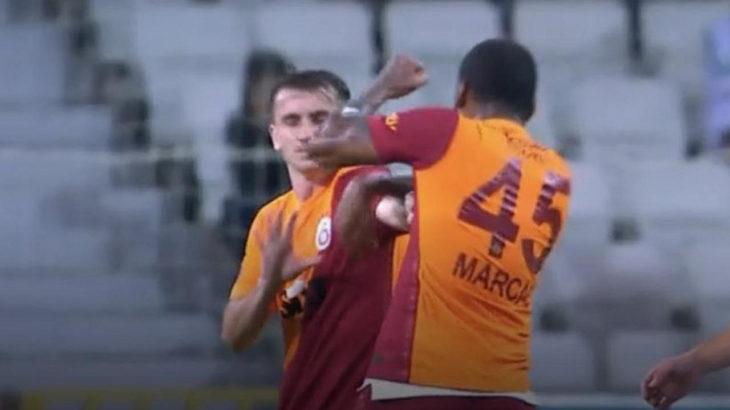 Maç sırasında takım arkadaşına saldıran Galatasaraylı yıldız oyundan atıldı