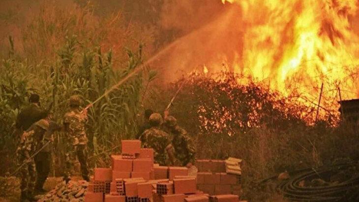 Cezayir'de çıkan orman yangınlarında 28'si asker 69 kişi hayatını kaybetti