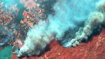 Yangınların korkunç tahribatı uydu görüntülerine de yansıdı