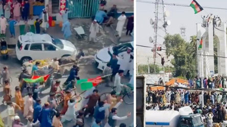 Taliban kollarını sıvadı: Afganistan bayrağı asan protestoculara ateş açıldı